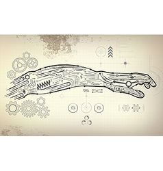 arm preview vector image