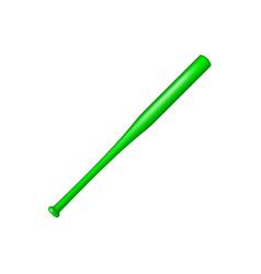 baseball bat in green design vector image vector image