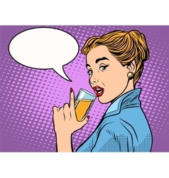 girl alcoholic drink vector image