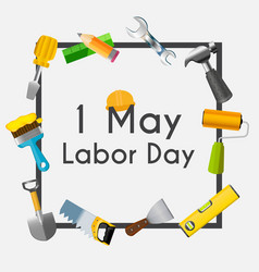 Labor day 1 may poster vector