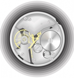 mechanism of a watch vector image