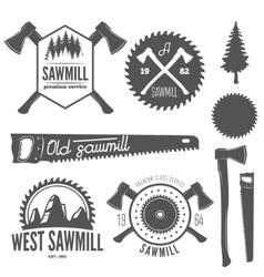 Set of badge labels or emblem elements for vector image vector image