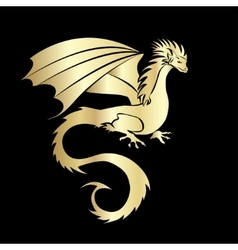 Stylized image of Dragon vector image vector image
