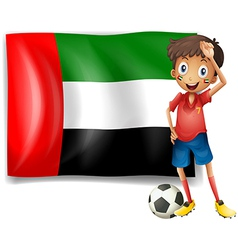 The UAE flag and the male athlete vector image vector image