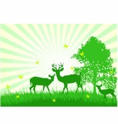 wildlife in the country vector image vector image