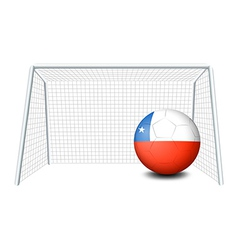 A soccer ball with the flag of Chile vector image