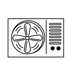air conditioner isolated icon vector image