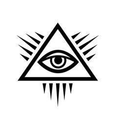 All-seeing eye eye providence vector