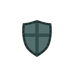 Ancient shield icon in flat style vector image