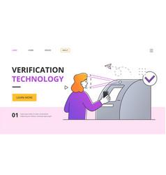Atm verification technology concept vector