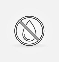 ban water drop forbidding concept linear vector image