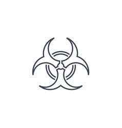 Biological hazard icon vector