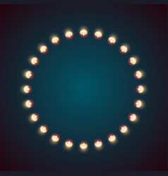 bulb fire circle on the dark vector image