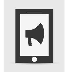 Bullhorn announce graphic vector