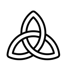 Celtic knot feast of saint patrick line icon vector