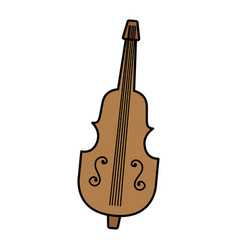 Chello instrument isolated icon vector