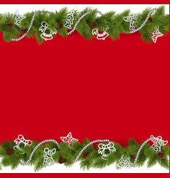 Christmas Border with Beads vector