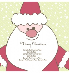 christmas card with santa illustration vector image