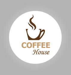 coffee house logotype vector image