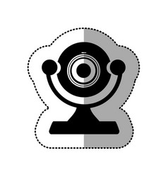 Contour digital computer camera icon vector