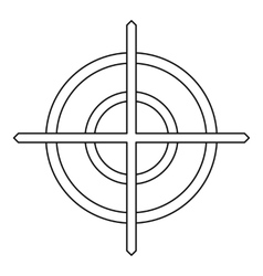 Crosshair icon in outline style vector