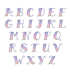 cute vintage alfabeth vector image