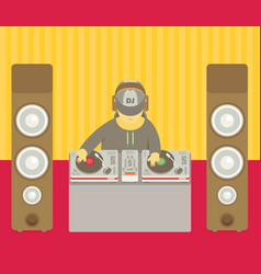 Dj character music musical entertainment flat vector
