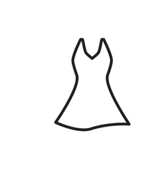 Dress Icon Isolated vector image