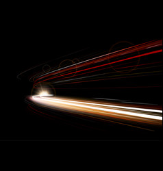 Dynamic lights speed city road car vector