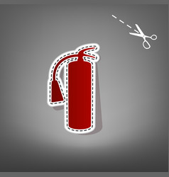 fire extinguisher sign red icon with for vector image
