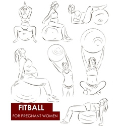 Fitball for pregnant vector image