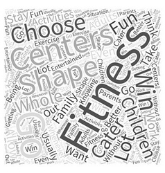 Fitness centers Word Cloud Concept vector