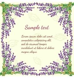 Floral frame with lavender vector image
