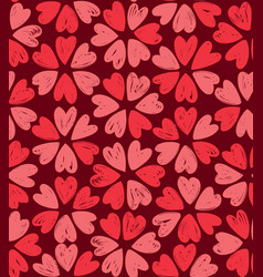 floral pattern decorative seamless background vector image