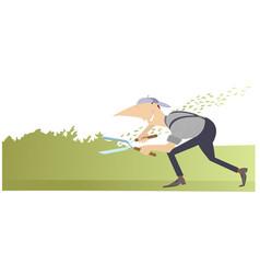 gardener cartoon vector image