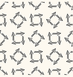 geometric seamless pattern with hand drawn vector image