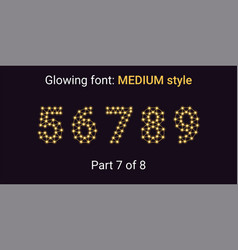 golden glowing font in the outline style vector image