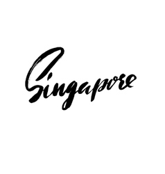 Greetings from Singapore Greeting card with vector