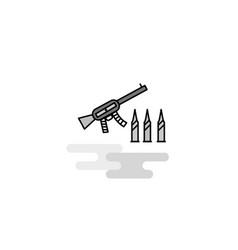 guns web icon flat line filled gray icon vector image