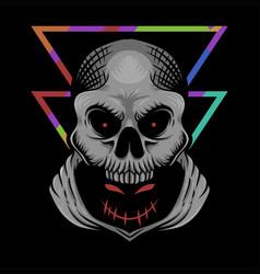 hidden evil skull vector image