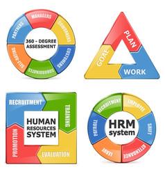 HRM Diagrams vector image
