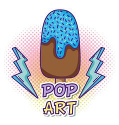 Ice cream pop art vector