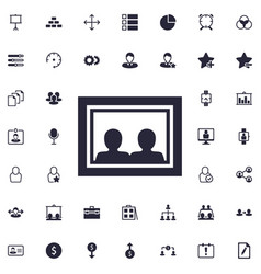Image in frame icon vector