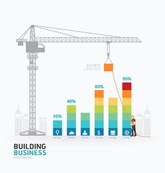 Infographic business graph template design vector image