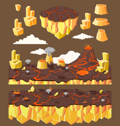 Isometric level game landscape concept vector