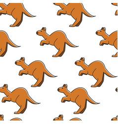 kangaroo australian symbol seamless pattern wild vector image