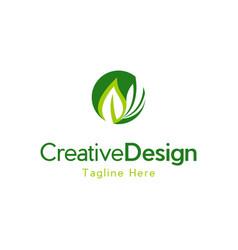 Leaf ecology environment creative business logo vector
