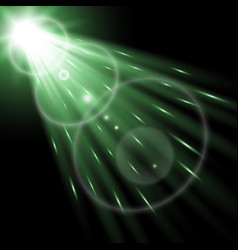 Light circle with a spotlight green color vector