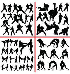 Martial art mix vector