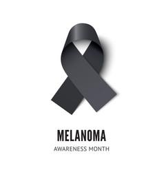 Melanoma cancer awareness ribbon vector